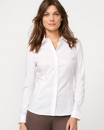 Poplin Colour Block Blouse