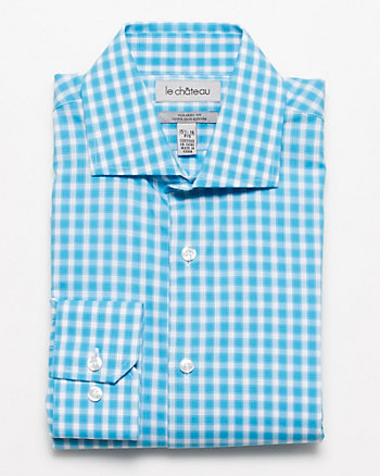 Cotton Check Tailored Fit Dress Shirt