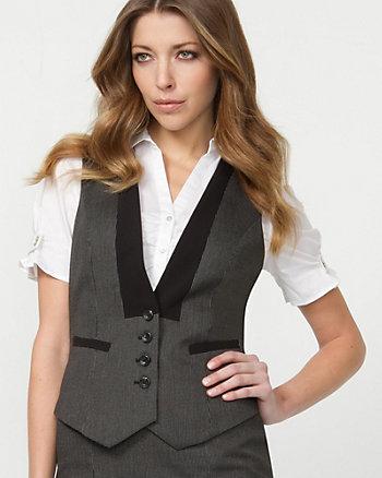 Textured Classic Fit Vest