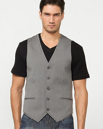 Herringbone Five Button Vest