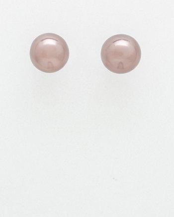 Pearl-Like Stud Earrings