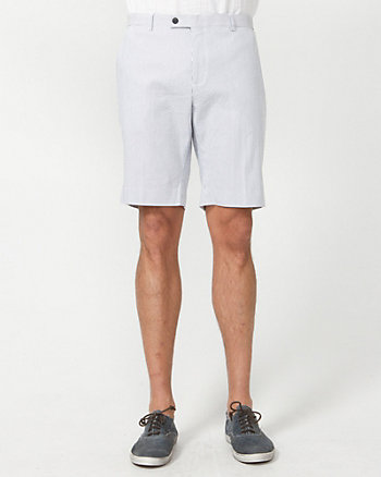 Stripe Cotton Blend  Bermuda Short