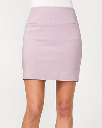 Modal Blend Straight Mini Skirt
