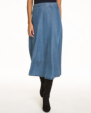 Lycocell Denim Midi Skirt