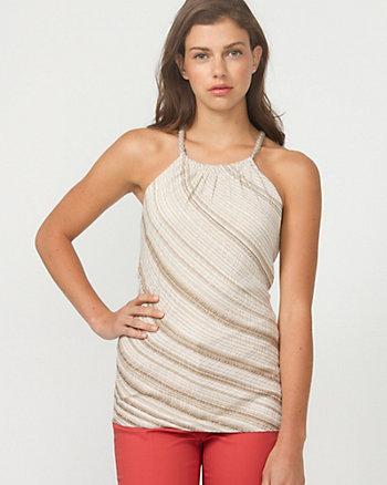 Lurex Stripe Halter Sweater