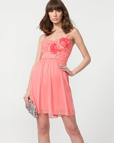 Cocktail Dresses with Rosettes