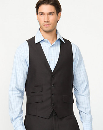 Tonal Herringbone Contemporary Fit Vest