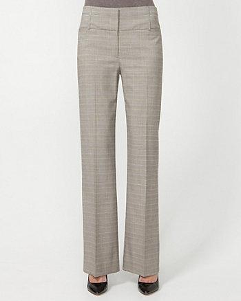 Viscose Blend Check Trouser
