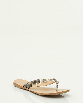 Snake Print Thong Sandal
