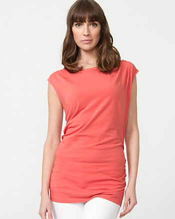 Cotton Boat Neck Shell
