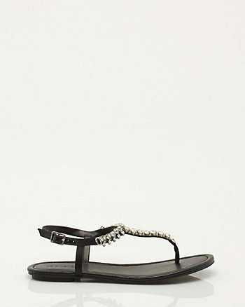 Jewel Flat Thong Sandal