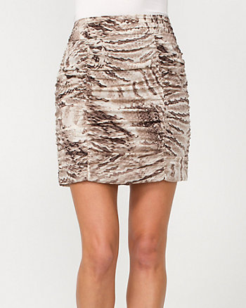 Silk Charmeuse Python Print Skirt