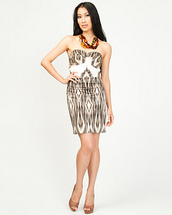 Chiffon Tribal Tube Dress