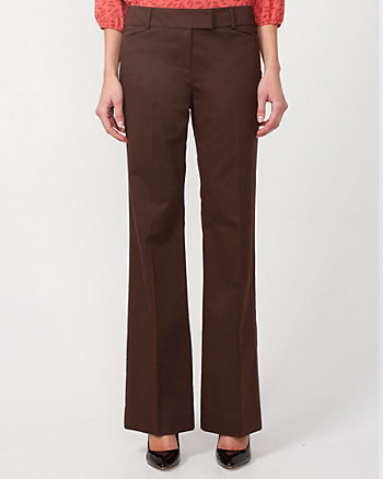 Cotton Sateen Flare Leg Pant