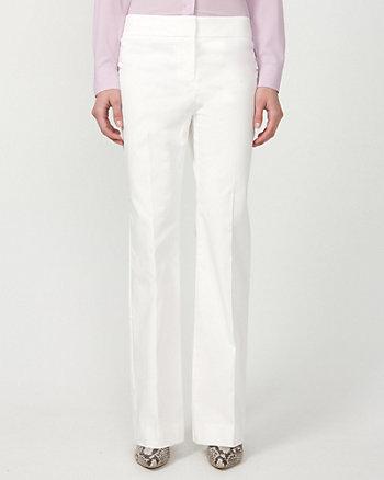 Pantalon de satinette à jambe évasée
