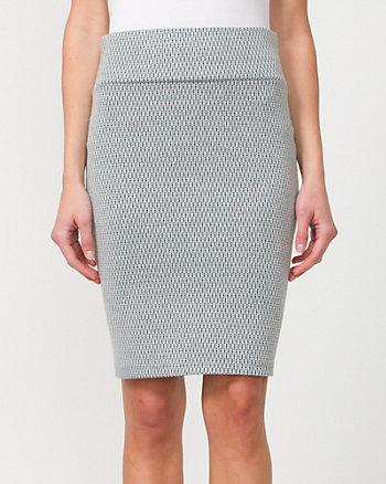 Ponte High Waisted Pencil Skirt
