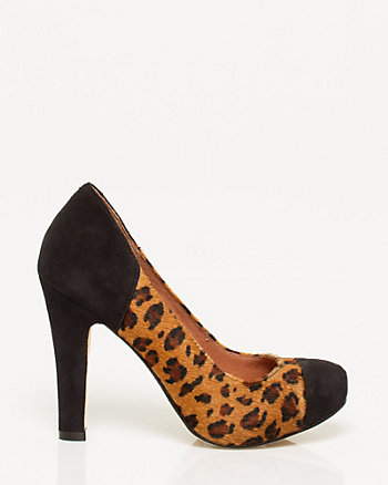 Pony Hair Platform Pump