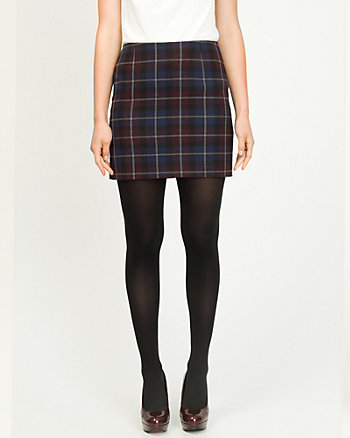 Woven Plaid Mini Skirt
