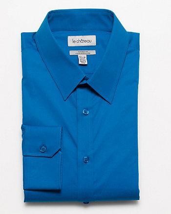 Stretch Poplin Tailored Fit Dress Shirt