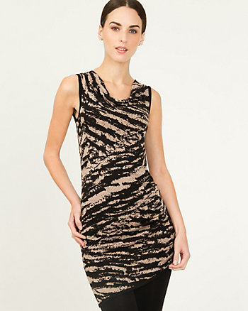 Viscose Blend Animal Print Tunic