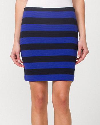 Stripe Ponte Skirt