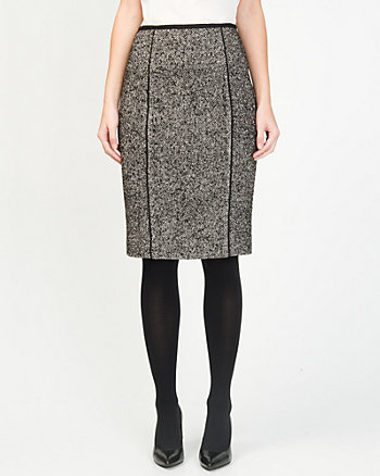 Wool Blend Pencil Skirt