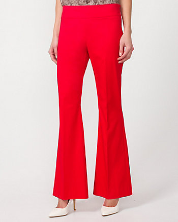 Cotton Twill Flare Leg Pant