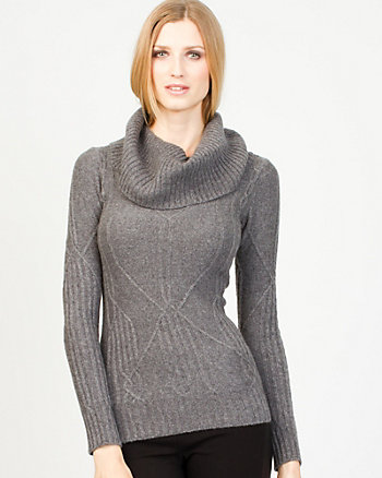 Cashmere Blend Cable Knit Sweater
