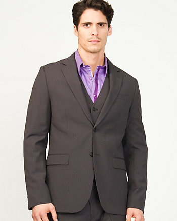 Stripe Wool Blend Contemporary Fit Blazer