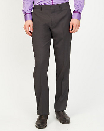Stripe Wool Blend Straight Leg Pant