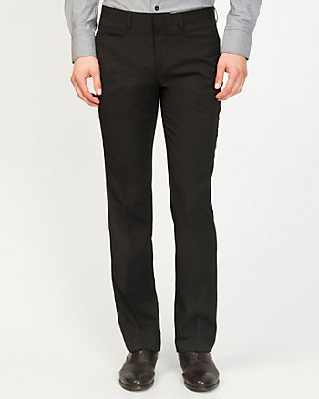 Stripe Wool Blend Slim Leg Pant