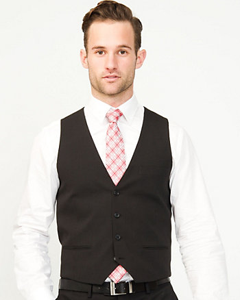 Stripe Wool Blend Contemporary Fit Vest