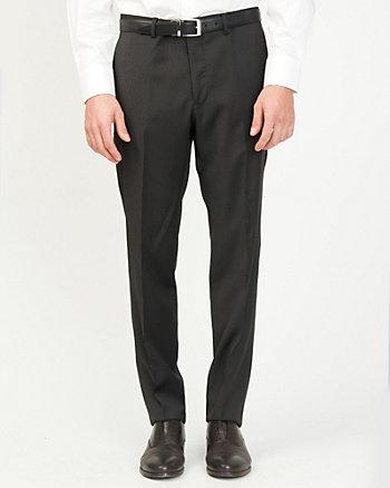 Stripe Wool Slim Leg Pant