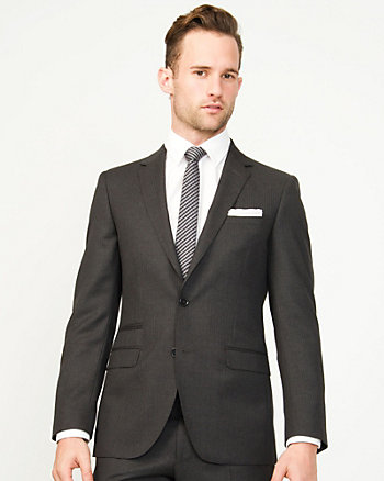 Wool Tonal Slim Fit Blazer
