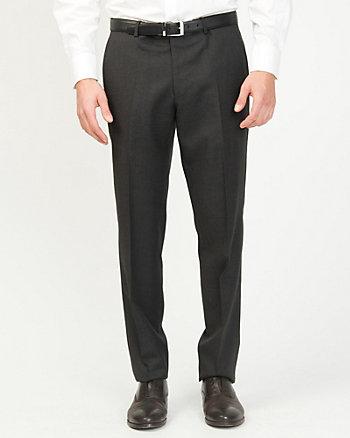 Wool Tonal Slim Leg Pant