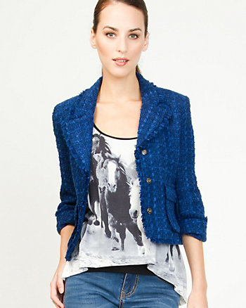 Bouclé Notch Collar Blazer