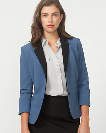 Double Weave Tailored Blazer