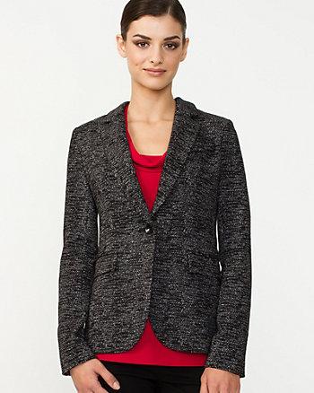Tweed Notch Collar Blazer
