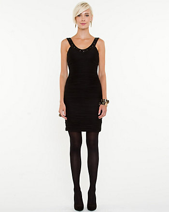 Mesh Scoop Neck Dress