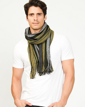 Italian Made Stripe Acrylic Scarf