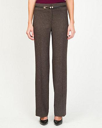 Viscose Blend Belted Trouser