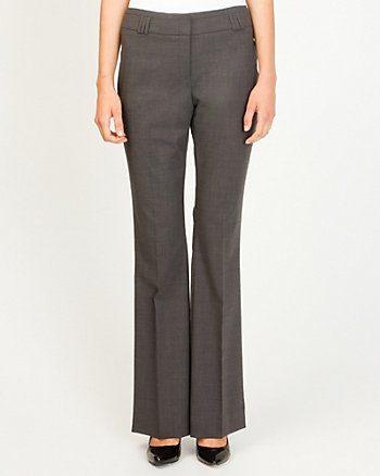 Wool Blend Flare Pant