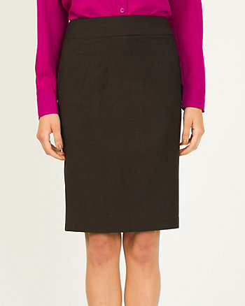 Wool High Waisted Pencil Skirt