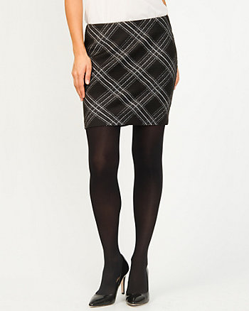 Ponte Check Mini Skirt