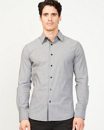 Stretch Stripe Cotton Slim Fit Shirt