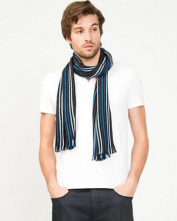 Stripe Wool Blend Scarf