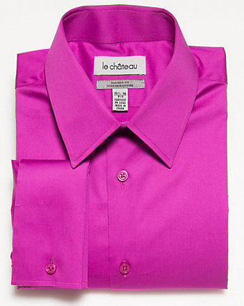 Stretch Cotton Sateen Dress Shirt