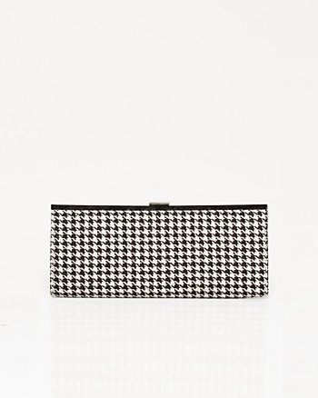 Houndstooth Frame Clutch