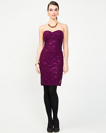 Lace & Sequin Cocktail Dress