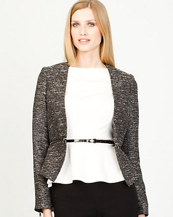Two Tone Bouclé Jacket